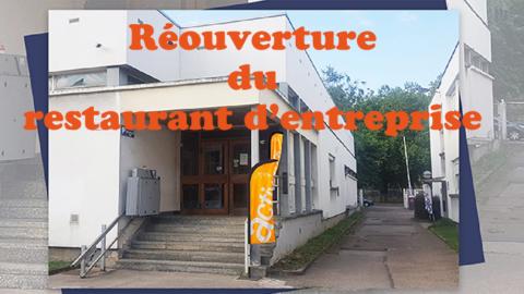 Réouverture du restaurant d'entreprise CCAS à Nancy